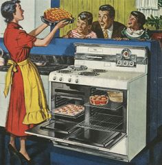 """Women were expected to stay in the kitchen during the 1950's 