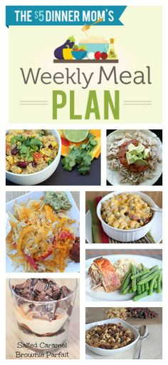Free Weekly Meal Plan with Printable Grocery List ~ week of April 6 | 5DollarDinners.com