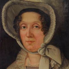 Portrait of Lady in a Bonnet, 18th c. Oil - Price Estimate: $800 - $1200