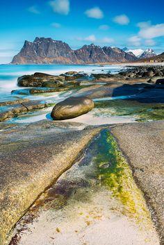 Uttakleiv Beach Lofoten Islands, Norway