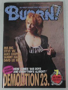 1994/07 BURRN! Japan Rock Magazine DEMOLITION23./MR.BIG/STEVE VAI/ALICE COOPER