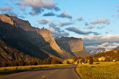 Montana:  Going to the Sun Road at Sunrise