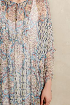 Mandara Silk Caftan - anthropologie.com