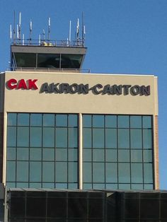 """See 534 photos and 155 tips from 17237 visitors to Akron-Canton Airport (CAK). """"What a great little airport! There is an office area open to everyone. Canton Ohio, Football Hall Of Fame, Airports, Towers, Four Square, University, Usa, Building, Places"""