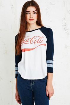Coca Cola Baseball Tee in Blue