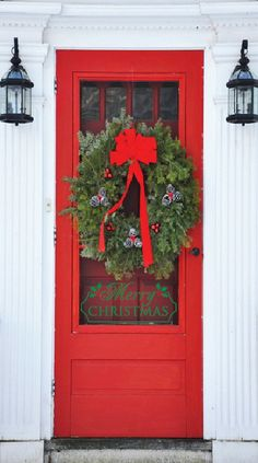 Our 1st Home Decorations-Christmas Door Decal