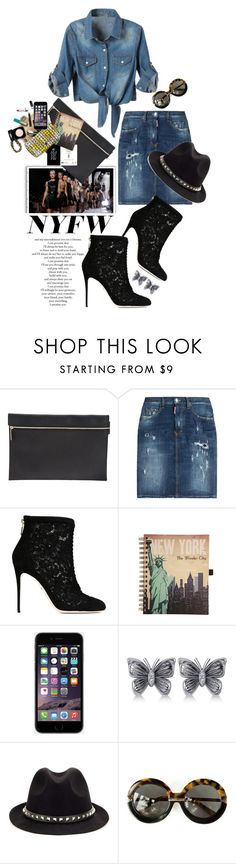"""""""What to Pack: NYFW"""" by shortyluv718 ❤ liked on Polyvore featuring Victoria Beckham, Dsquared2, Dolce&Gabbana, Allurez, Valentino and Karen Walker"""