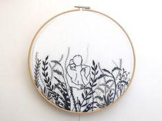 Embroidery art Monochrome by Stitchguy0324 on Etsy