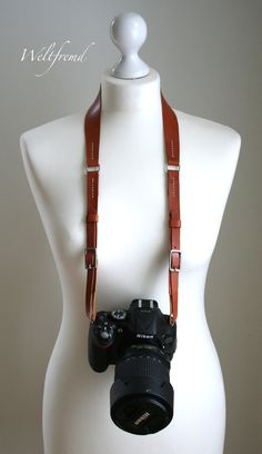 hand stitched personalized Leather Camera Strap by weltfremd, €55.00