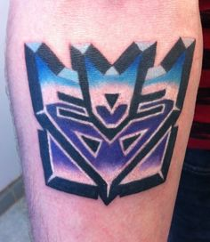 Love the Decepticon tattoo - it's the best I've seen!   By Lacey at Sin on Skin