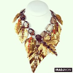 24K Gold Leaf Necklace - handmade in the USA #IradjMoini
