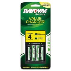 Rayovac® Four Position Value Charger For High-Drain Devices