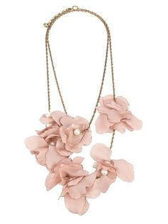 LANVIN  silk flower necklace