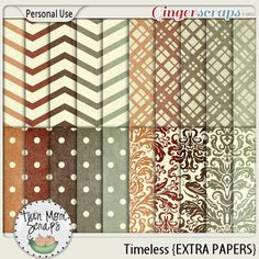 New TIMELESS TwinMomScraps! Timeless EXTRA PAPERS %35 off; http://store.gingerscraps.net/Timeless-EXTRA-PAPERS.html. 23/08/2013
