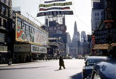 New York City - Broadway and 49th Street - 1955