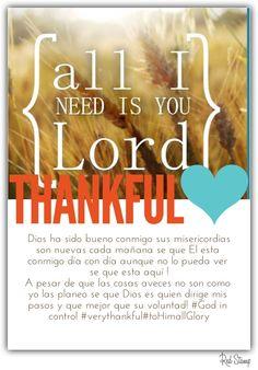 En gratitud a mi padre celestial!