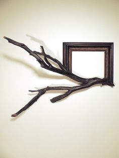 Wood frame with grafted manzanita branch Marco by FusionFramesNW, $210.00