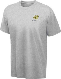 Jimmie Johnson Grey Embroidered T-Shirt by College Concepts. $23.99. Fuel your enthusiasm for NASCAR and your favorite racer with this Jimmie Johnson Grey Historic Rib Knit T-Shirt. The perfect addition to your closet, this 100% cotton 1x1 rib knit short sleeve tee has a rib knit collar, finished sleeves and a distressed screen print graphic front and center.