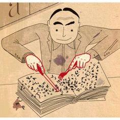 Cada día nos desayunamos un buen libro (ilustración de Beppe Giacobbe)