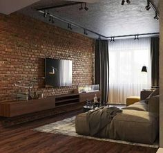Tag Your Friends Who'd Love This Design! Swipe left to see more from this cool loft apartment design by Industrial Interior Design, Industrial Bedroom, Industrial House, Industrial Interiors, Home Interior Design, Interior Styling, Industrial Chic, Kitchen Industrial, Industrial Shelving