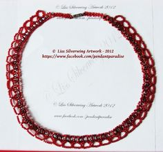 'Red romance necklace - ' is going up for auction at 11pm Fri, Nov 16 with a starting bid of $22.