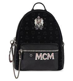 MCM Stark Insignia Medium Velvet Backpack. #mcm #bags #velvet #backpacks #