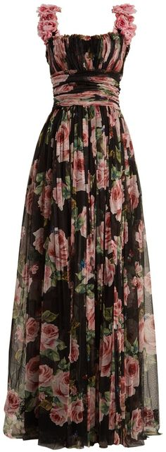 a little too structure but something like this DOLCE & GABBANA Rose-print silk-tulle gown Floral Fashion, Fashion Dresses, Dress Skirt, Dress Up, Evening Dresses, Prom Dresses, Michael Cinco, Ellie Saab, Tulle Gown