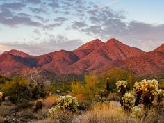 This is the Red Desert Mountains at sunset near Scottsdale, AZ.