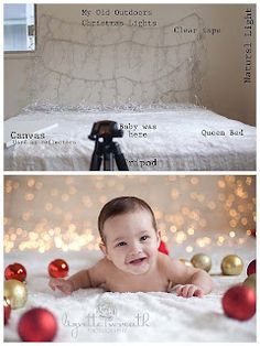 Setup for baby Christmas photos