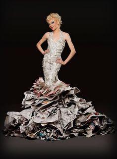 Como hacer un vestido de papel de diario