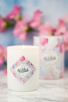 Cotton candy from My Jolie Candle: My opinion on new packaging and editions Large Candles, Candels, Blog Deco, My Opinions, Diy Hacks, Candle Making, Cotton Candy, Decorating Your Home, Candle Jars