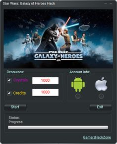 New Star Wars Galaxy of Heroes Hack (Android/iOS) download updated. Star Wars Galaxy of Heroes Hack (Android/iOS) 2016 download tool. Free download of Star Wars Galaxy of Heroes Hack (Android/iOS).