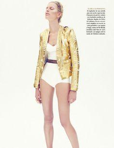 Karolina Kurkova is a Metallic Muse for Nagi Sakais Vogue Mexico June Cover Story...
