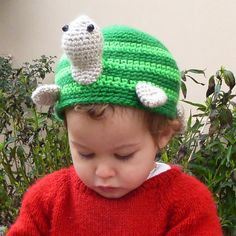 Turtle Crochet pattern Hat or Toilet Paper Cover PDF- Bathroom decor & Beanie - Instant Dowload Crochet Turtle, Crochet Cap, Crochet Beanie, Crochet Toys, Knitted Hats, Yarn Projects, Crochet Projects, Crochet Animal Hats, Olaf