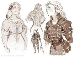- some more old Slava works; nameless heroine with. Character Creation, Fantasy Character Design, Character Design Inspiration, Character Concept, Character Art, Concept Art, Character Ideas, Dnd Characters, Fantasy Characters