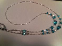lanyard Beaded Jewelry, Jewelry Necklaces, Handmade Jewelry, Beaded Necklace, Unique Jewelry, Jewelry Crafts, Bead Crafts, Jewelry Ideas, Beaded Lanyards