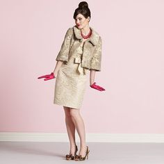 Absolutely adore this jacket... perfect for a late winter/spring wedding.