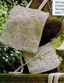 Beige Tote Bag | AllFreeCrochet.com