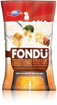 Emmi Fresh Blend Fondu: Traditional - Emmentaler® and Le Gruyère® cheeses (cultured milk and nonfat milk, salt, enzymes), corn starch