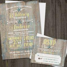 25 Printed Vintage Seaside Wedding Invitation Set by partymonkey Wedding Invitation Inspiration, Destination Wedding Invitations, Wedding Invitation Sets, Invites, Invitation Ideas, Wedding Stationary, Wedding Inspiration, Seaside Wedding, Wedding Sets