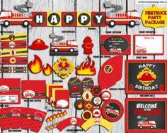 Birthday Invitations Firefighter : Firetruck by SweetHelene