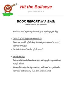 Book reports don't have to be flat.  This is an engaging way to get students to summarize, find the main idea and details after reading a book.