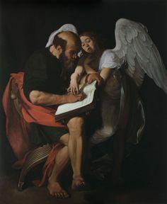 Mijn favoriete Caravaggio natuurlijk, aangezien dit schilderij mij ook inspireerde voor een eigen schilderij. Het toont Carravagio's lef (uitdagend/ sensueel/ niet verheven) en zijn extreem barokke clair-obscur gebruik. ..:. Caravaggio 1599-1600 Contarelli