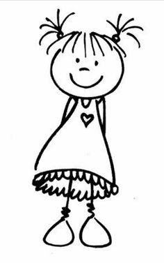 Scrapbooking – Artemio – Tampon bois – Fille avec couettes – 5 x cm Scrapbooking – Artemio – Wood stamp – Girl with duvets – 5 x cm Doodle Drawings, Doodle Art, Easy Drawings, Drawing For Kids, Art For Kids, Embroidery Patterns, Hand Embroidery, Tampon Scrapbooking, Stick Figure Drawing