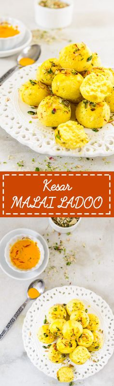 Kesar Malai Ladoo. Indian sweet made using fresh cottage cheese. Food Photography and Styling by Neha Mathur.