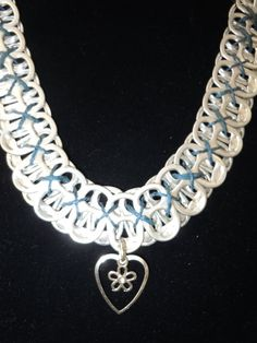 Funky RECYCLED Can Tab NECKLACE with Heart And by lecraftee, $11.00