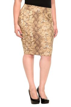 756e1b2368e Pencil in sexy with on-trend python print. A flattering banded waist and  plenty