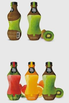 The use of hyper realistic images of each fruit they use for the juice is very original. The photos also make the juice seem very natural. Fruit Packaging, Cool Packaging, Beverage Packaging, Packaging Design, Packaging Ideas, Fruit Cups, Fruit Drinks, Fruit Juice, Juice Diet