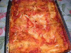 Lasagne di carasau con scamorza Ricotta, Flan, Ethnic Recipes, Muffin, Pizza, Gastronomia, Lasagna, Pudding, Creme Brulee