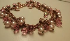 Check out this item in my Etsy shop https://www.etsy.com/es/listing/261724917/rose-gold-pink-swavorski-beaded-bracelet